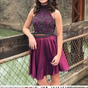 Sherri Hill 2 Piece Beaded Cocktail Formal Dress